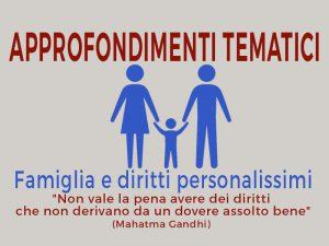 Famiglia e diritti personalissimi